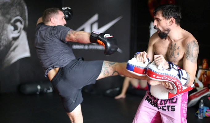 Muay Thai class hosted by Jason