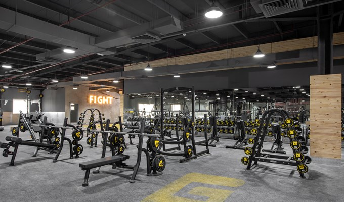 GymNation Free Weights Area